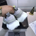 MCM Men's Himmel Low Top Sneakers in Suede white  4