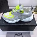MCM Men's Himmel Low Top Sneakers in Suede white  7