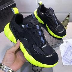 MCM Men's Low-Top Himmel Sneaker in Suede Black SUEDE