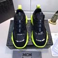MCM Men's Low-Top Himmel Sneaker in Suede Black SUEDE 8