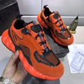 MCM Men's Himmel Low Top Sneakers in Suede Variations	 #F24727 Vibrant Orange 1