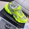MCM Men's Low-Top Himmel Sneaker in Visetos Variations	 #E6EF03 Neon Yellow 1