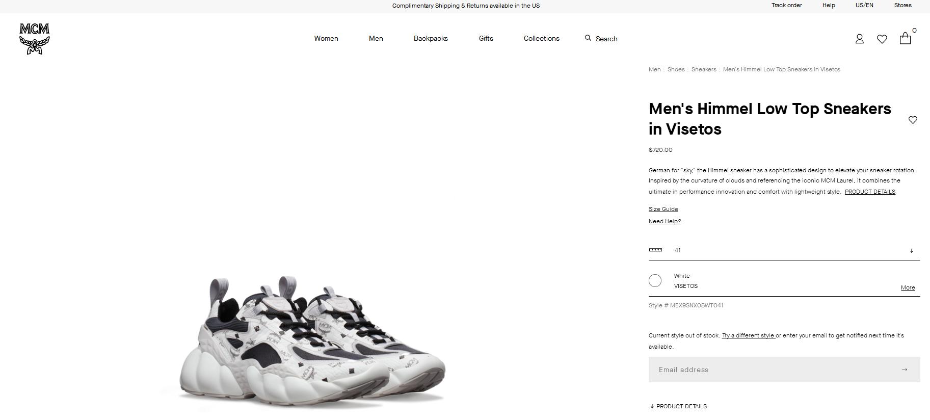 MCM Men's Himmel Low Top Sneakers in Visetos white mcm sneaker   3