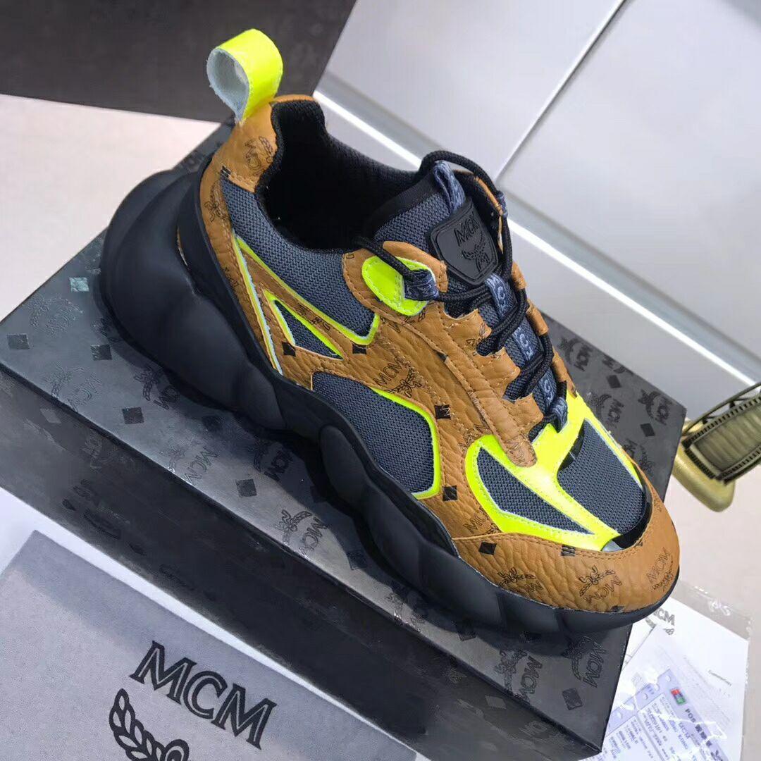 MCM Men's Low-Top Himmel Sneaker in Visetos Cognac VISETOS   3