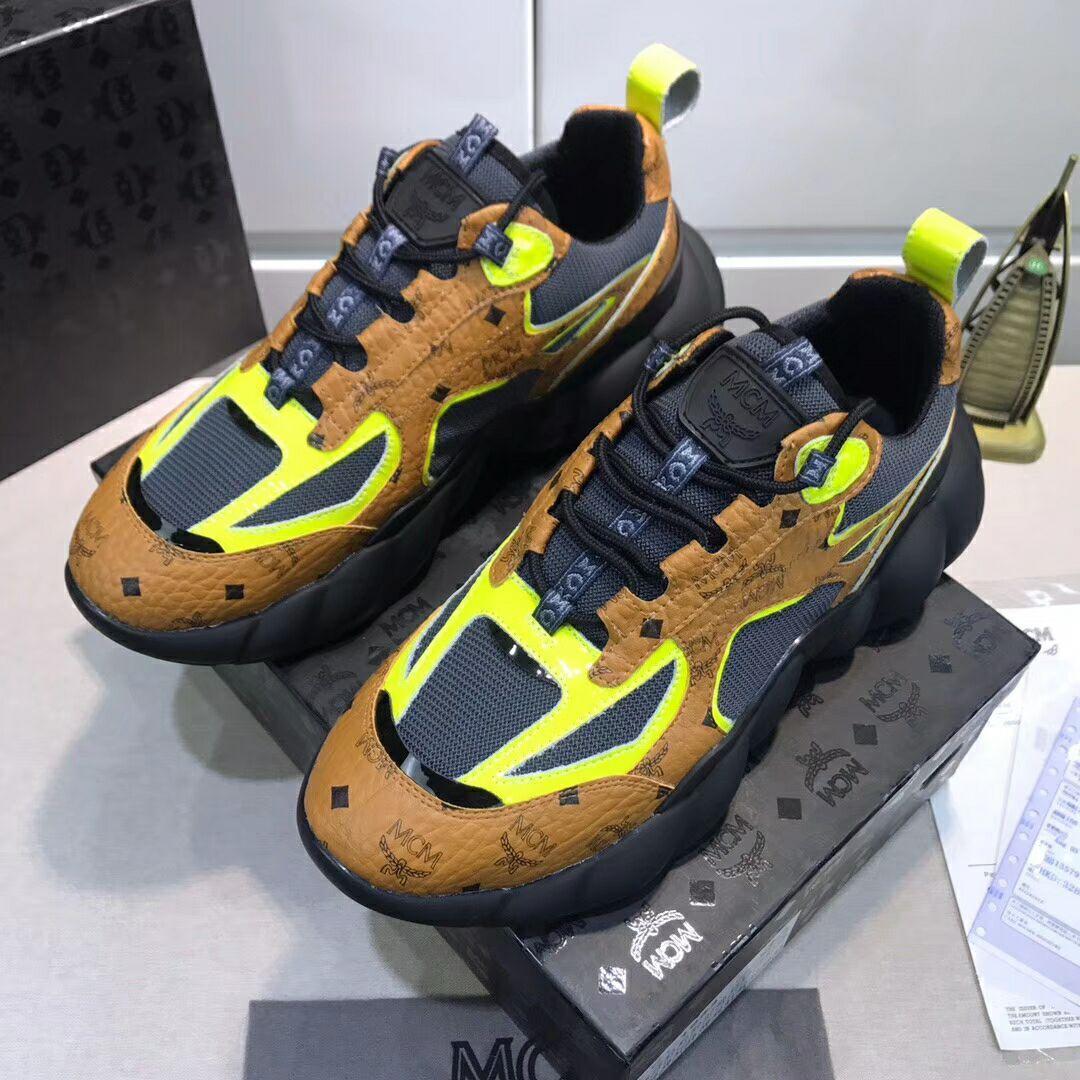MCM Men's Low-Top Himmel Sneaker in Visetos Cognac VISETOS   4