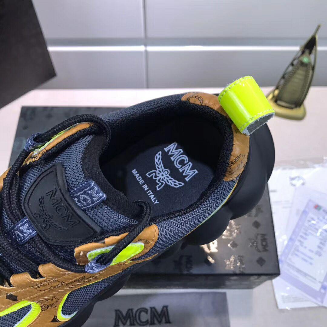 MCM Men's Low-Top Himmel Sneaker in Visetos Cognac VISETOS   5