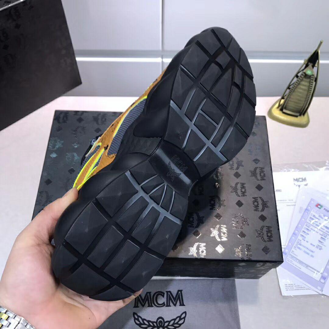 MCM Men's Low-Top Himmel Sneaker in Visetos Cognac VISETOS   6