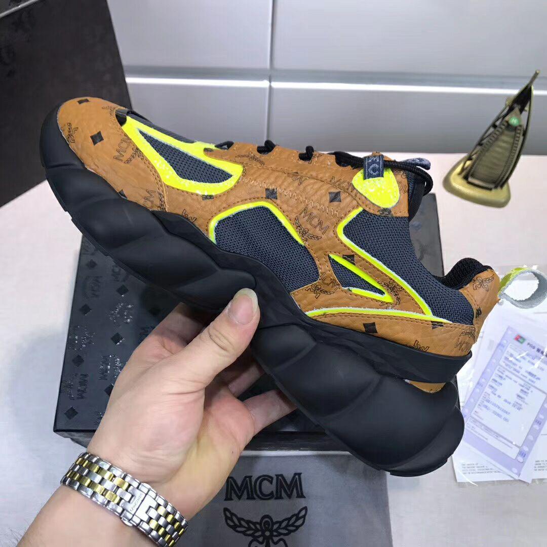 MCM Men's Low-Top Himmel Sneaker in Visetos Cognac VISETOS   7