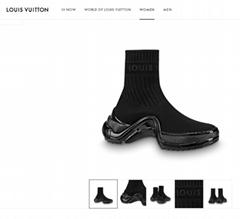 lv archlight sneaker boot  NOIR / NOIR 1A52LN lv sneaker boot lv women boot
