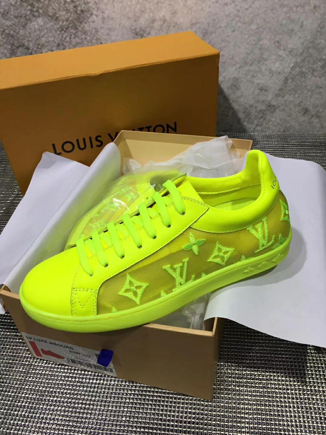 lv luxembourg sneaker 1A5S8Y Jaune  lv sneaker lv  yellow shoes lv men shoes  10
