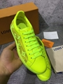 lv luxembourg sneaker 1A5S8Y Jaune  lv sneaker lv  yellow shoes lv men shoes  13