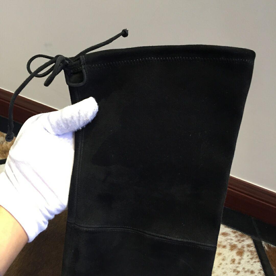 Stuart Weitzman THE TIELAND BOOT STRETCH SUEDE BLACK 7cm 4