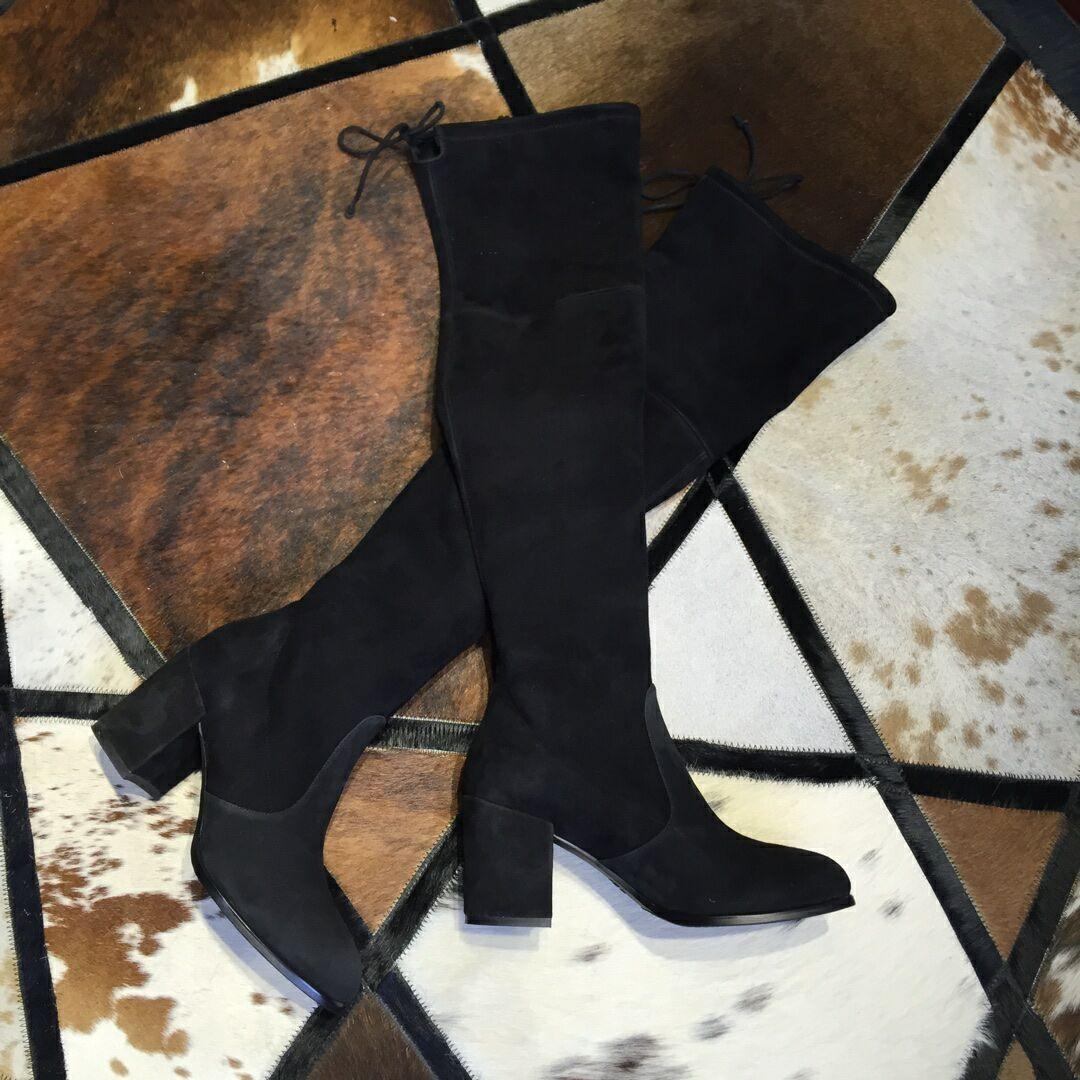 Stuart Weitzman THE TIELAND BOOT STRETCH SUEDE BLACK 7cm 5