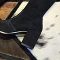 Stuart Weitzman THE TIELAND BOOT STRETCH SUEDE BLACK 7cm 9