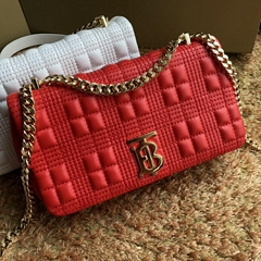 burberry Small Quilted Lambskin Lola Bag bright red burberry Lola Bag
