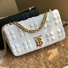 burberry Small Quilted Lambskin Lola Bag White 80211061