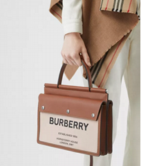 burberry  Small Horseferry Print Title Bag with Pocket Detail