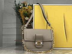 LV dauphine mm Galet M55835 lv shoulder bag lv handbags