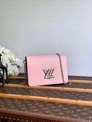 lv twist belt chain wallet epi rose ballerine  M68559