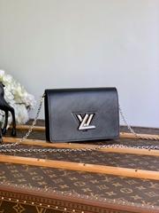 lv twist belt chain wallet epi Noir  M68560