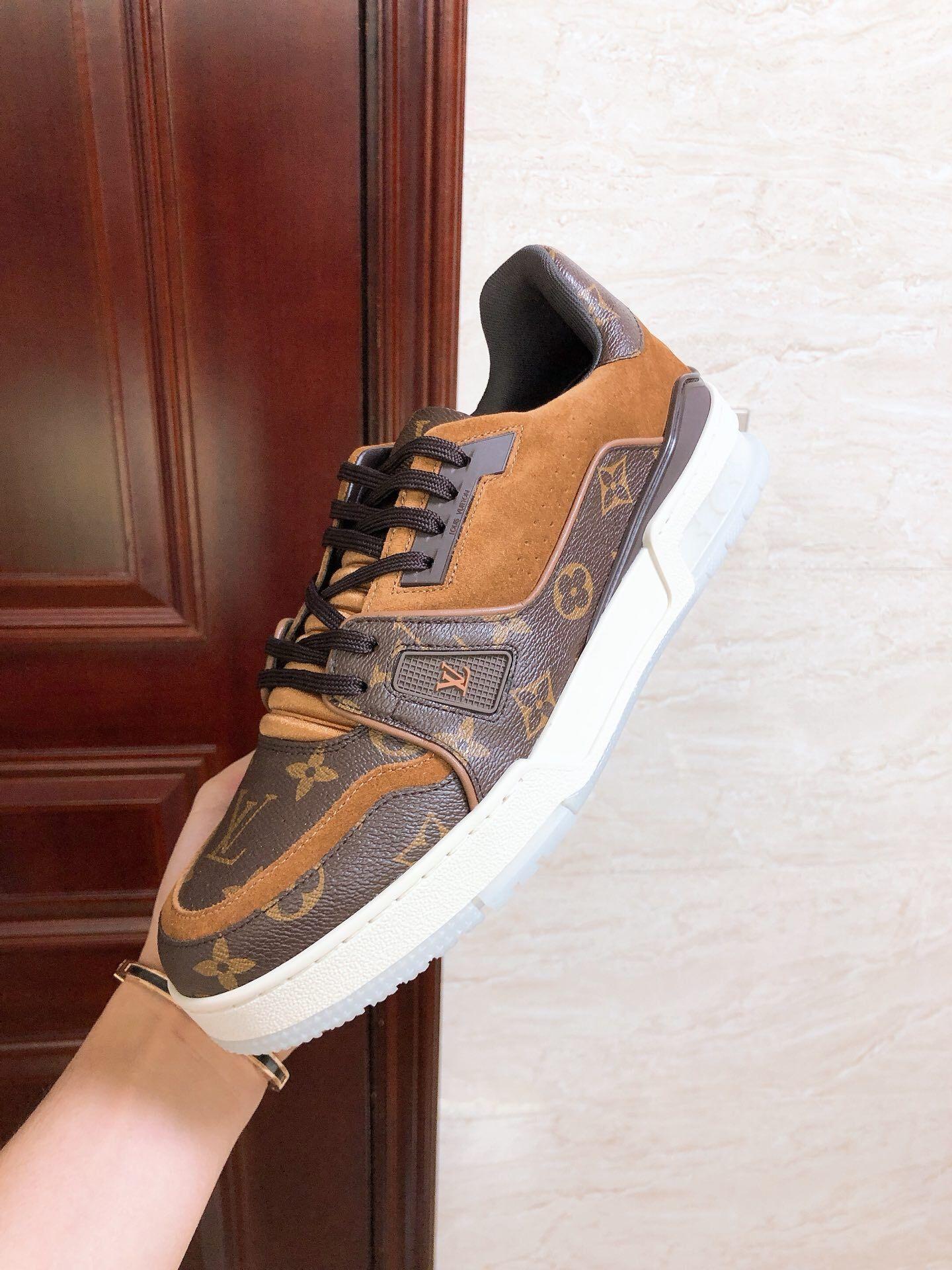 lv trainer sneaker 1A5UR7 lv men sneaker lv shoes Monogram canvas  lv men shoes  6
