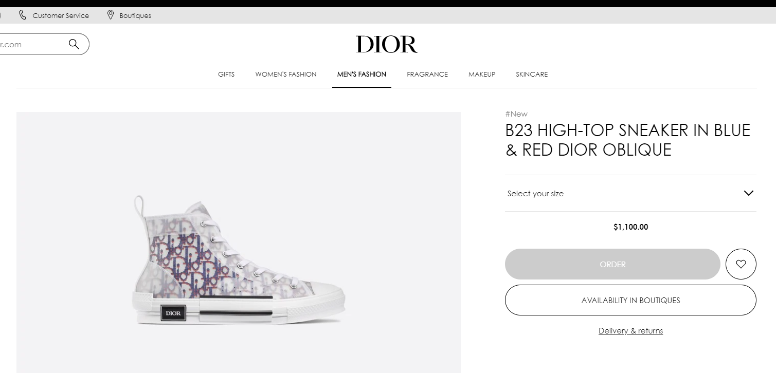 """B23"" LOW-TOP DIOR OBLIQUE SNEAKER DIOR MEN SNEAKER DIOR SHOES  8"