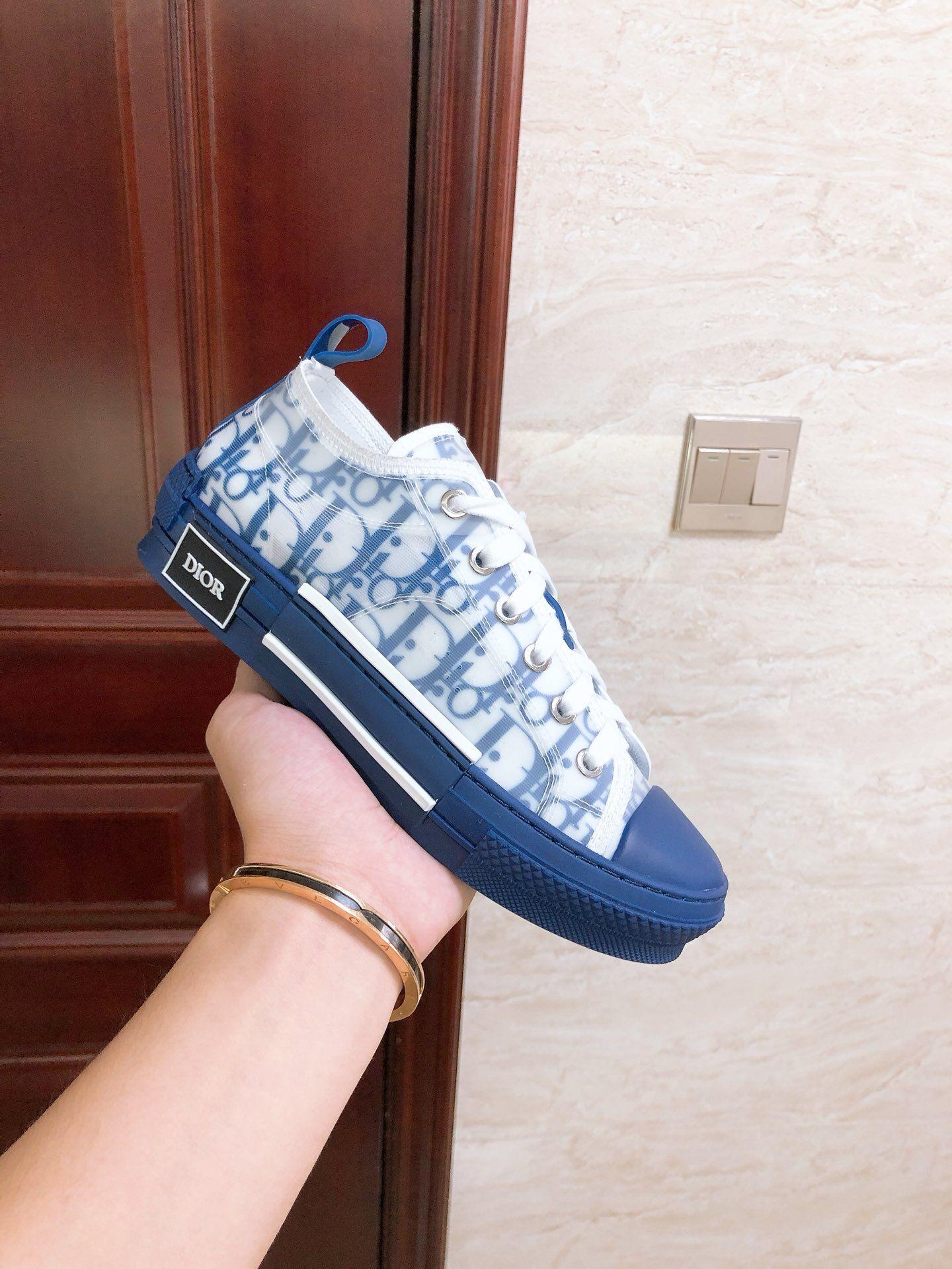 B23 LOW-TOP SNEAKER IN BLUE DIOR OBLIQUE DIOR SNEAKER DIOR SHOES  4