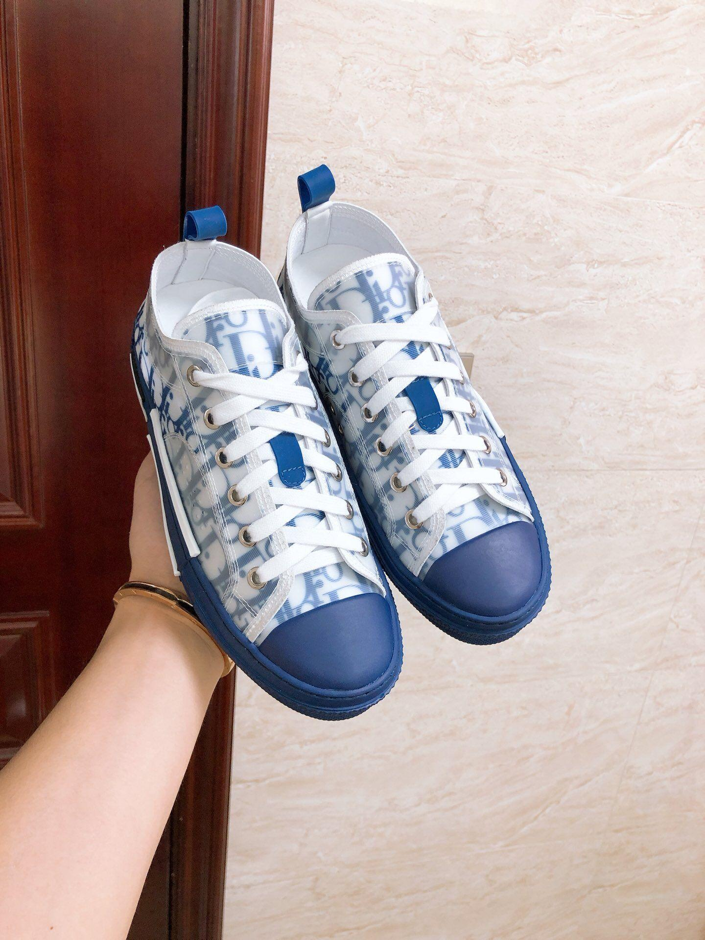 B23 LOW-TOP SNEAKER IN BLUE DIOR OBLIQUE DIOR SNEAKER DIOR SHOES  10