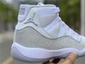 Wmns Nike Air Jordan 11 XI Retro 5-12 White Metallic Silver AR0715-100 9