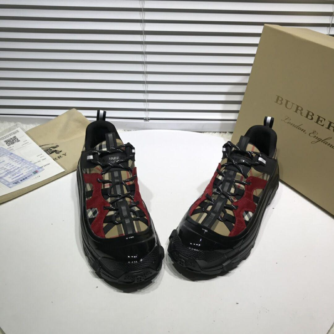 Burberry Vintage Check Cotton and Nubuck Arthur Sneakers burberry sneaker  3