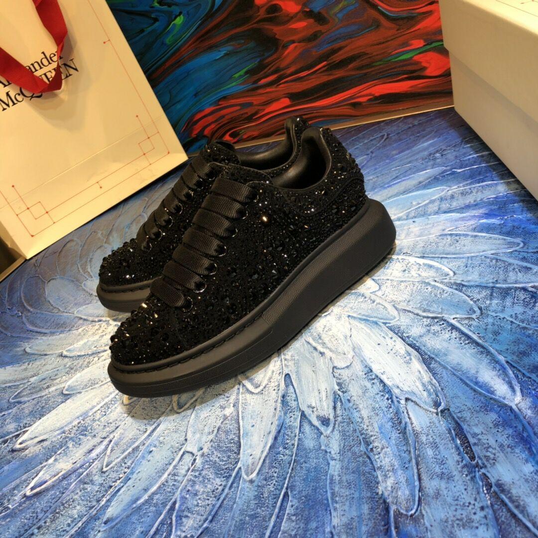 mcqueen oversized sneaker Black crystal rhinestone  mcqueen sneaker 3