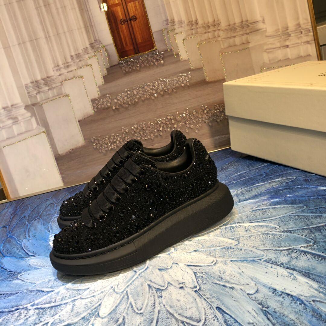 mcqueen oversized sneaker Black crystal rhinestone  mcqueen sneaker 4