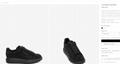 mcqueen oversized sneaker Black crystal