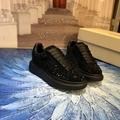mcqueen oversized sneaker Black crystal rhinestone  mcqueen sneaker