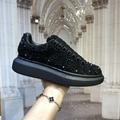 mcqueen oversized sneaker Black crystal rhinestone  mcqueen sneaker 7