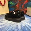 mcqueen oversized sneaker Black crystal rhinestone  mcqueen sneaker 8