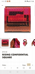 RISING CONFIDENTIAL SQUARE SILK SCARF LV SCARVES