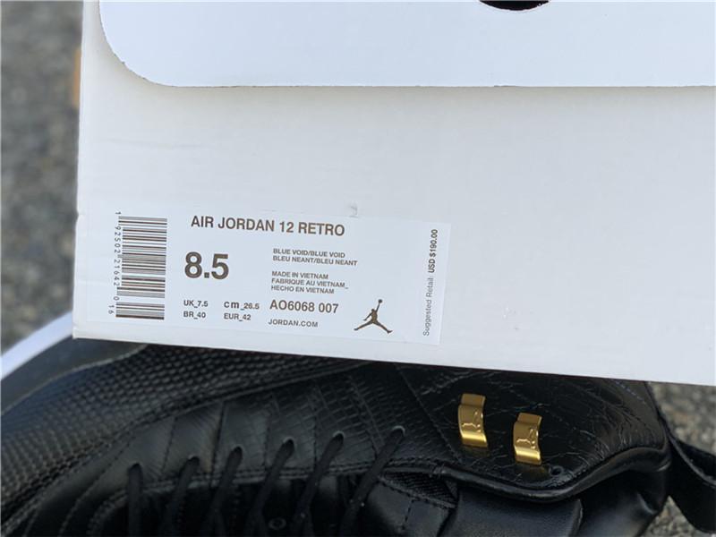 WMNS Air Jordan 12 Midnight Black AO6068-007 jordan sneaker  11