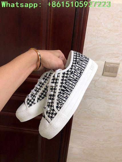 houndstooth sneaker in embroidered canvas      sneaker  11