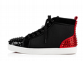 Newest christian louboutin Lou Spikes 2 Flat  Mesh high tops sneaker