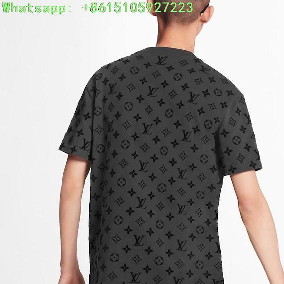 Lv hook and loop monogram short sleeve t-shirt