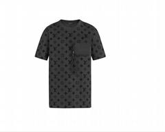 Lv hook and loop monogram short sleeve t-shirt lv tshirt lv men tshirt 1A7QDU