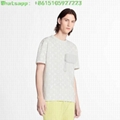 Lv hook and loop monogram short sleeve t-shirt 1A7QDM blanc tshirt lv tshirt