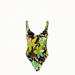 Fendi one-piece swimsuit Multicolor chenille swimsuit fendi bikini fendi