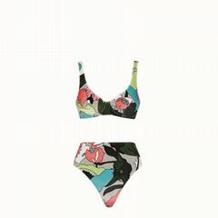 Fendi Multicolor chenille bikini fendi bikini fendi swimsuit