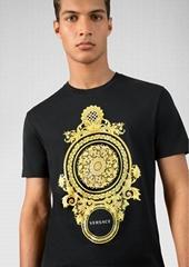 versace le pop classique motif-t-shirt versace tshirt Black short sleeve