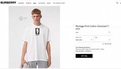 Burberry Montage Print Cotton Oversized T-shirt burberry tshirt