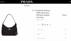 Prada Re-Edition 2005 nylon and Saffiano leather mini-bag prada bags