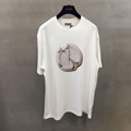 white compact cotton t-shirt with dior