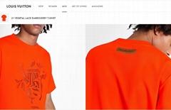 vegetal lace embroidery t-shirt    tshirt Orange    tshirt    men tshirt1A7QO